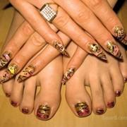 Наращивание ногтей: роспись, китайская роспись, лепка фото