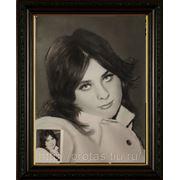Женский портрет с фотографии, сухая кисть фото