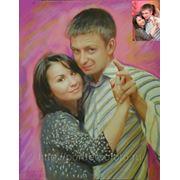 Заказ портрета танцующих, заказать портрет с фотографии фото