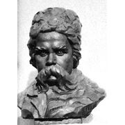 Скульптурный портрет Тараса Шевченко, портрет с фото, скульптура на заказ, скульптура, заказать скульптуру фото