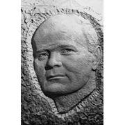 Скульптурный портрет, барельеф, фото