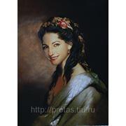 Женский живописный портрет с фотографии фото