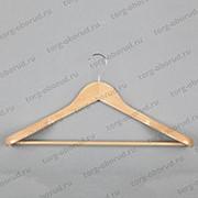 Вешалка плечики для одежды деревянная с перекладиной зимняя. C30-5D(светл) фото