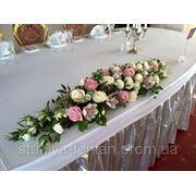 Композиция на стол (флористика, живые цветы) №5 фото