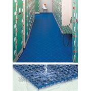 Модульное покрытие душевой или бассейна из ПВД фото