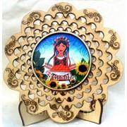 Тарелка сувенирная Украинка фото