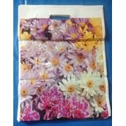 Пакеты с прорезной ручкой 34х47 Цветы фото