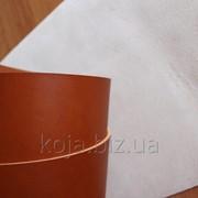 Кожа натуральная ременная коньячного цвета обработанная с обеих сторон арт. СК 1629 фото