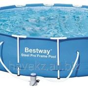 Каркасный бассейн Bestway 56305,56422, Steel Pro Frame Pro, ( 427см х 100см ) фото