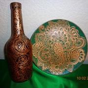 Бутылки сувенирные, ручная работа фото
