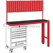 Верстак инструментальный под тележку, задняя панель, красный МАСТАК 542-11500R фото