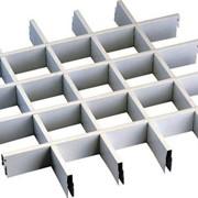 Растровый потолок Грильято (белый) 120*120*30 фото