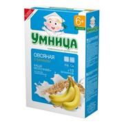 Умница каша молочная овсяная с бананом {с 6 мес} 200г фото
