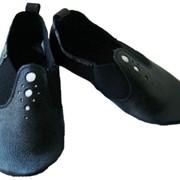 Чешки модель 1 черные. Детская танцевальная обувь из натуральной кожи фото