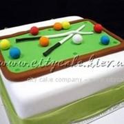 Торт тематический Бильярд №0002 код товара: 3-0002 фото