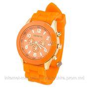Часы geneva оранжевые фото
