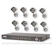 Комплект видеонаблюдения (8 камер) фото