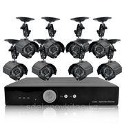 Комплект для охранного видеонаблюдения 8 камер , H264 DVR, 1TB фото