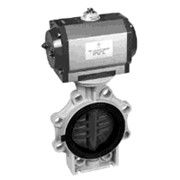 Дисковый затвор с пневмоприводом Praher K4 PVC-U (ПВХ) DN 65-200 мм фото