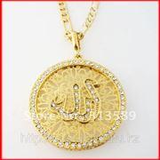 Кулон Аллаха 18 Kарат позолота, цепочка в подарок. фото