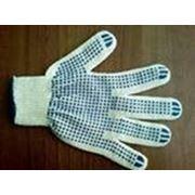 Перчатки с ПВХ точкой. фото