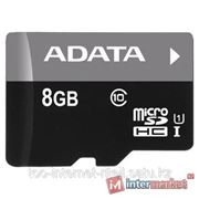 Карта памяти ADATA Premier microSDHC Class 10 UHS-I U1 8GB + SD adapter фото