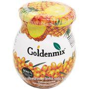 Goldenmix с ананасом (облепиха, протертая с сахаром, с ананасом) фото