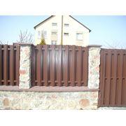 Забор из металического штакетника