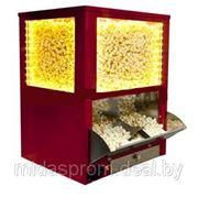 Витрина для попкорна с автоподачей, подогрев, подсветка, красная фото
