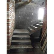 Лестница с прямыми маршами и площадкой фото