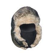 Шапка-ушанка с ветрозащитной маской фото