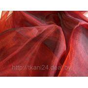 Органза бордовая фото