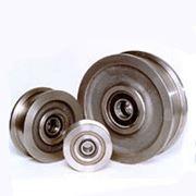 Колесо крановое К2Р (двухребордное) 400х100 фото