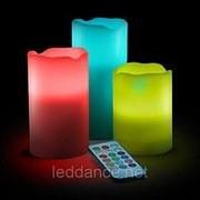 """Парафиновые Светодиодные RGB Свечи """"DELUX TF200 LED FIRE"""" с пультом (набор 3 шт.) фото"""