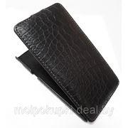 Чехол футляр-книга Art Case для Sony Xperia Z /LT36i крокодил чёрный в коробке фото