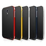 Силиконовый чехол SGP Neo Hybrid для Samsung GT-I9500 Galaxy S IV + бампер (чёрно-белый, чёрно-жёлтый, чёрно-красный, чёрно-серебряный, чёрный) фото