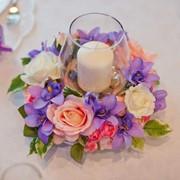 Оформление свадьбы живыми цветами фото