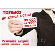 Визитные карточки (офсет) 1000 шт. с доставкой по Беларуси (АКЦИЯ ДО 30.11.2013) фото