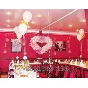 Воздушные шарики для свадьбы. Украшение зала шарами. Шары Минск фото