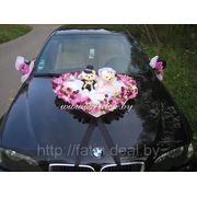 """Украшения на машину """"Розовое сердце с мишками"""" фото"""