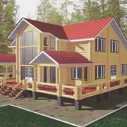 Дом деревянный двухэтажный фото