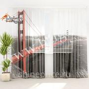 Мост Голден Гейт арт.ТФТ5022-h275 v3 (145х275-2шт) фототюль (штора Шифон ТФТ) фото