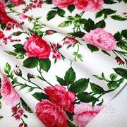 Ткань х\б отрез 56х50 (розы) фото