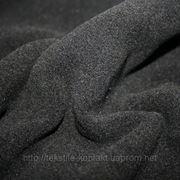 Пальтовая велюр черный фото
