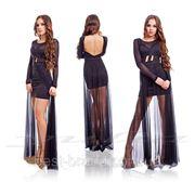 Платье шифон прозрачная юбка в пол фото