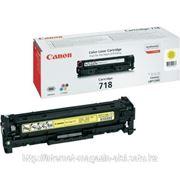 Картриджи для лазерных принтеров, МФУ, копиров Canon 718Y фото