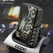 Зажигалка Zippo Dragon Tribal Black (дракон). фото