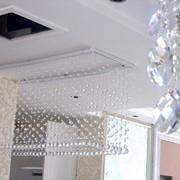 Декорирование потолков хрустальными подвесами фото