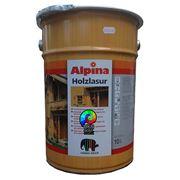 Водоотталкивающая лазурь Alpina HOLZLASUR 10 л фото