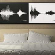 Картина из звука на немецком холсте Couple art фото